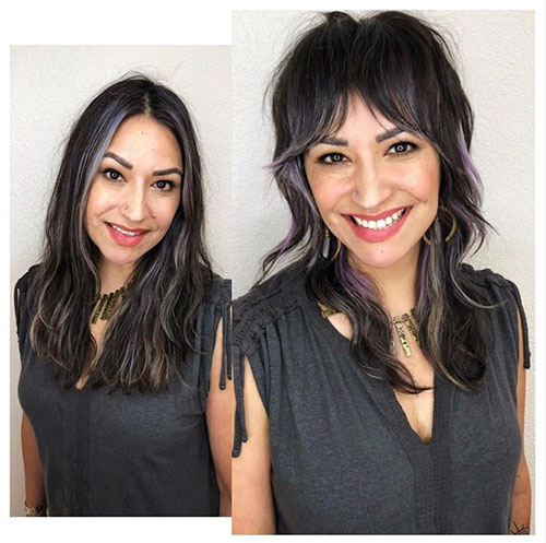 Medium Hairstyles With Bangs