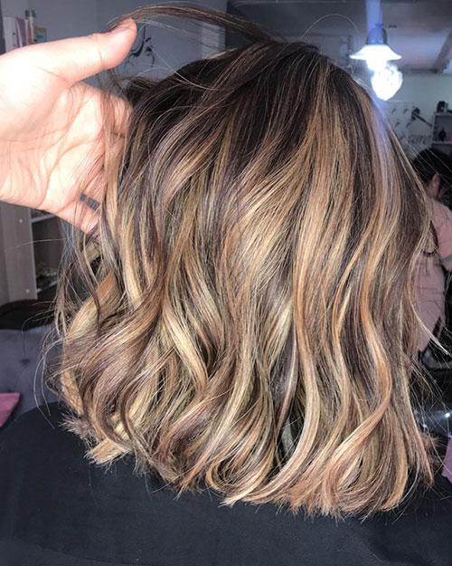 Medium Hair With Balayage