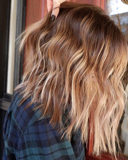 Balayage In Medium Hair