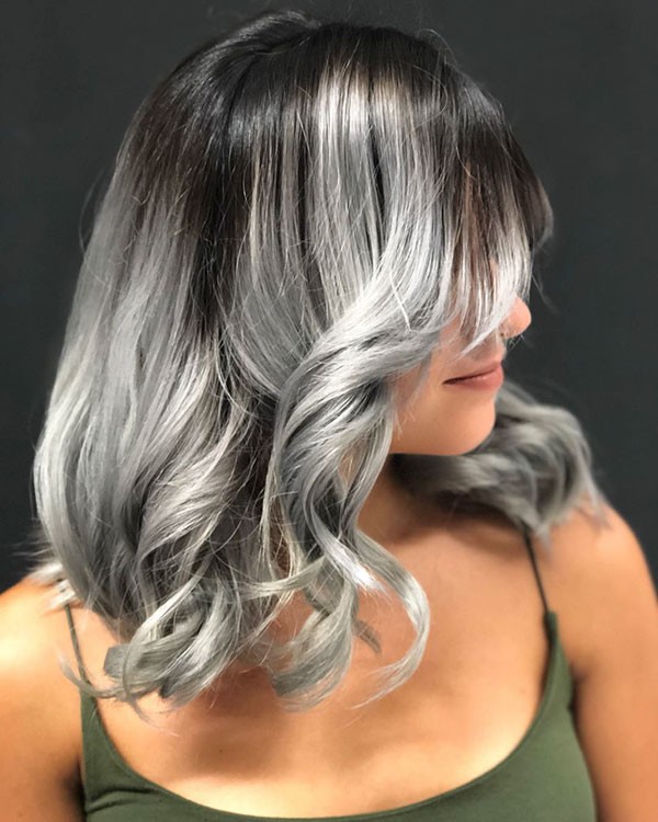 Grey Hair Pictures For Medium Hair