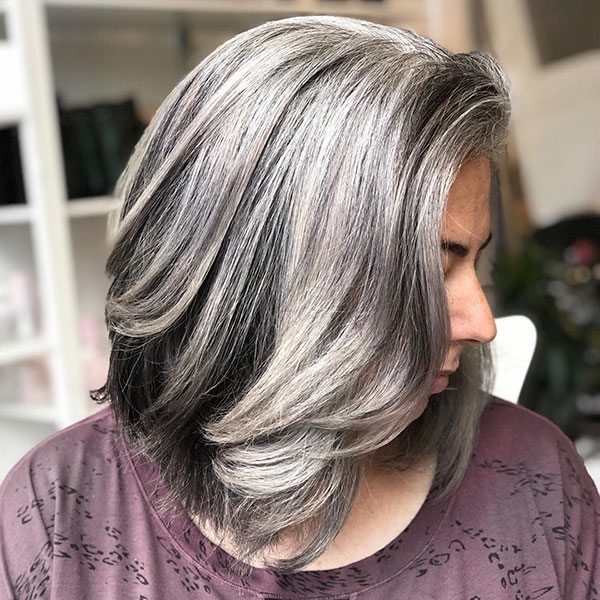 Great Medium Grey Hair Color