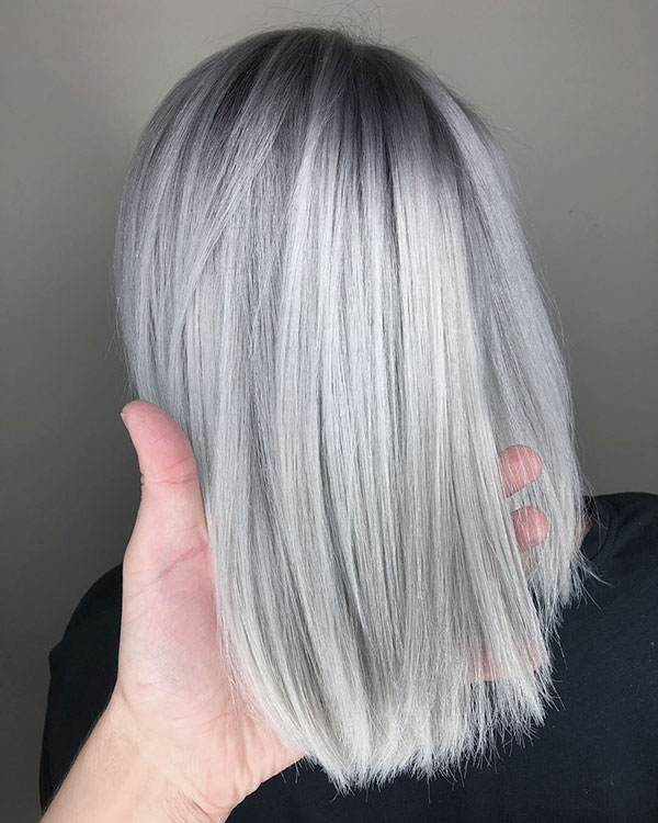 Images Of Medium Silver Hair