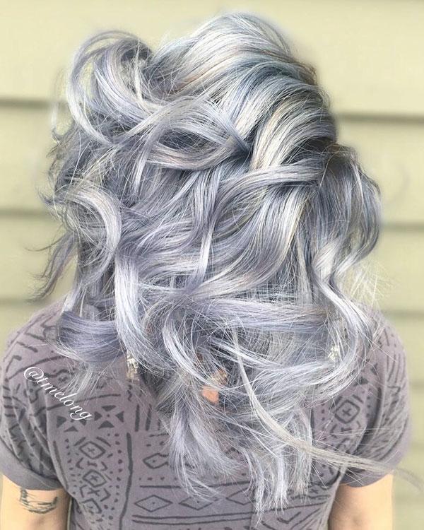 Medium Silver Hair Images