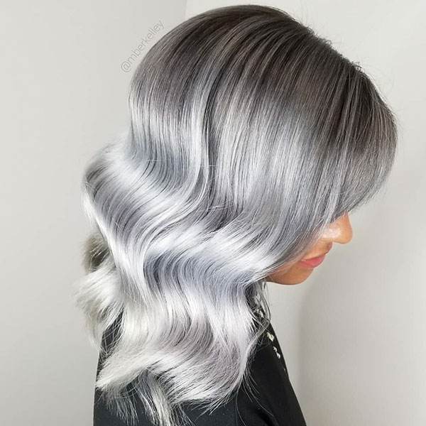 Pictures Of Medium Silver Hair