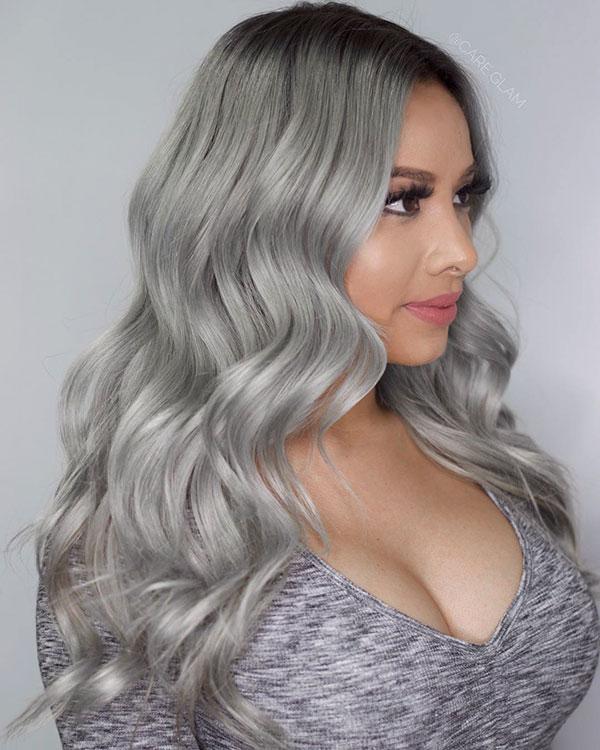 Silver Hair Medium Hairstyles