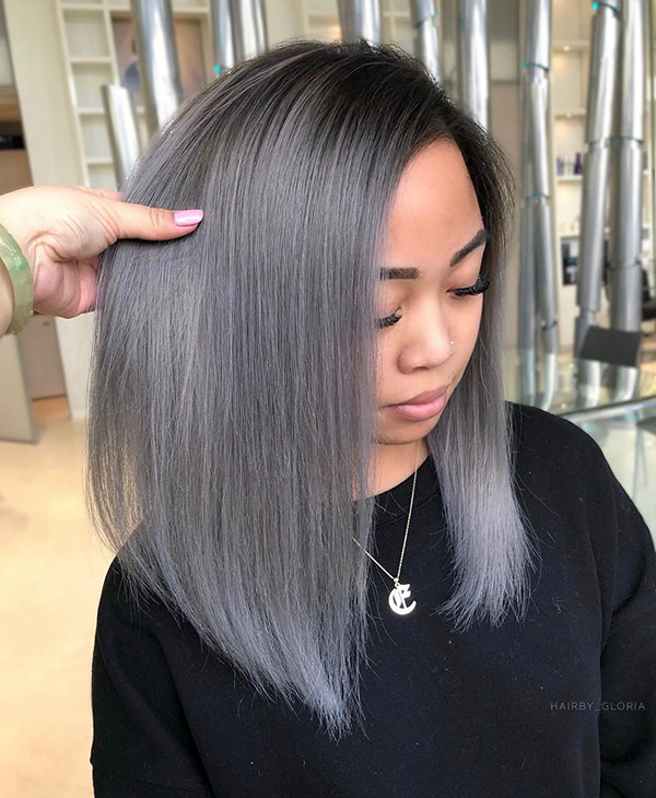 Cool Medium Silver Hair