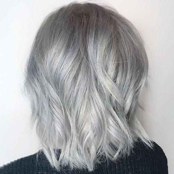 Medium Silver Hairstyles 2020