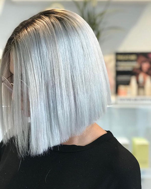Hairstyles For Medium Silver Hair