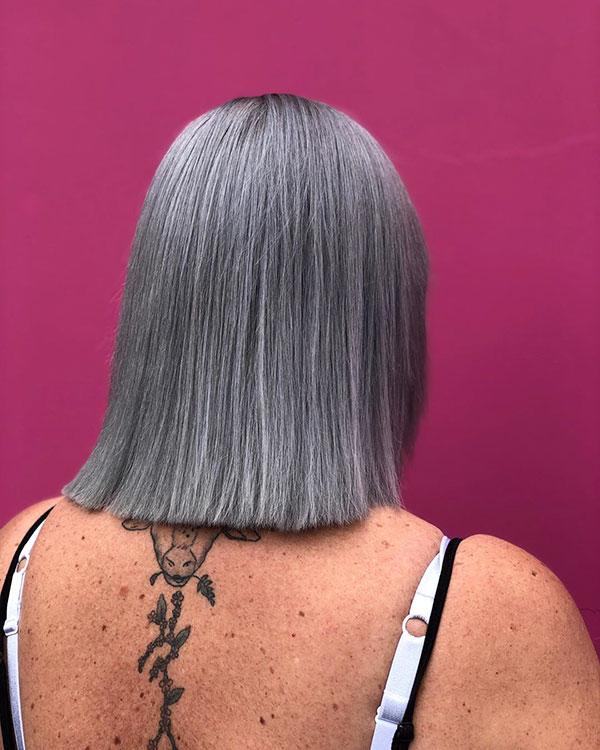 Medium Silver Hair