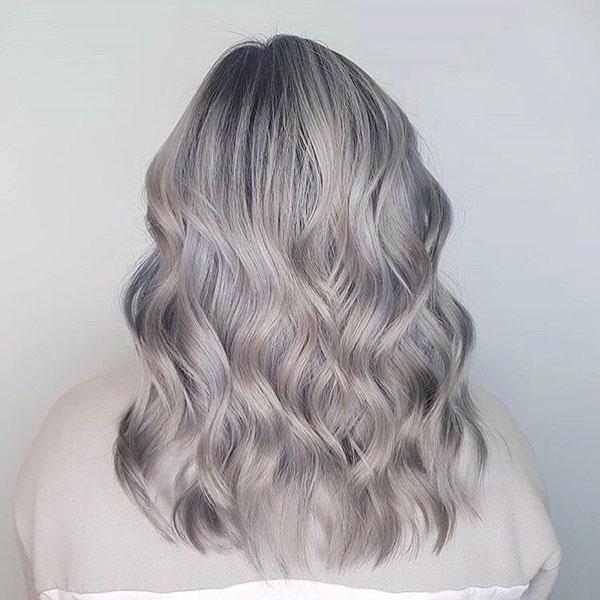 Medium Silver Hair For Women