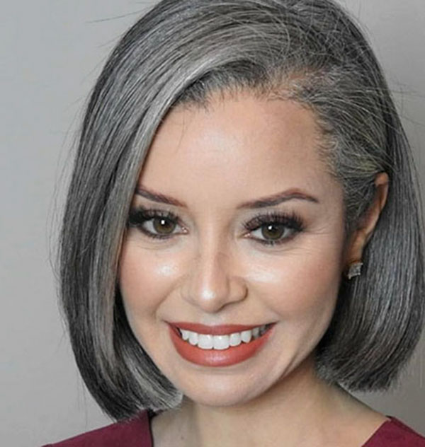 Grey Medium Hairstyles