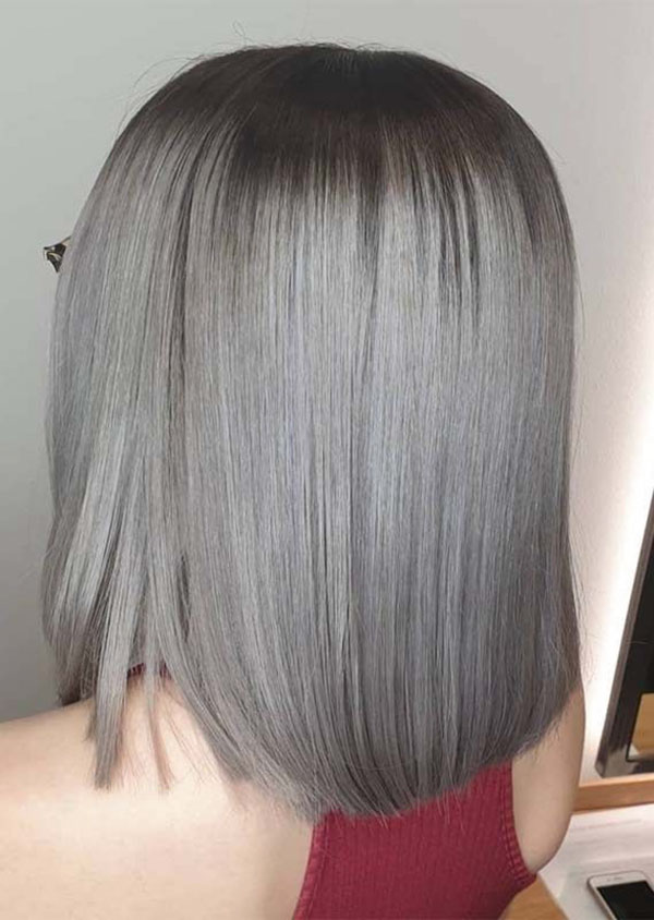 Medium Hairstyles For Grey Hair
