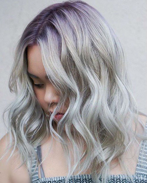 Medium Grey Hair Images