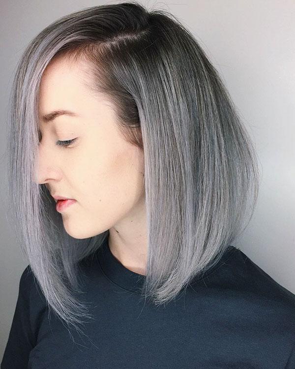 Medium Cut Silver Hair