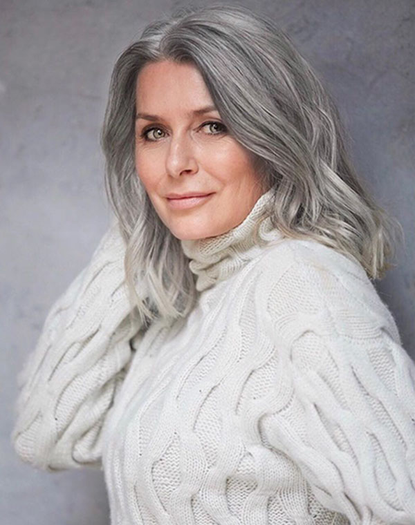 Medium Grey Hair Ideas
