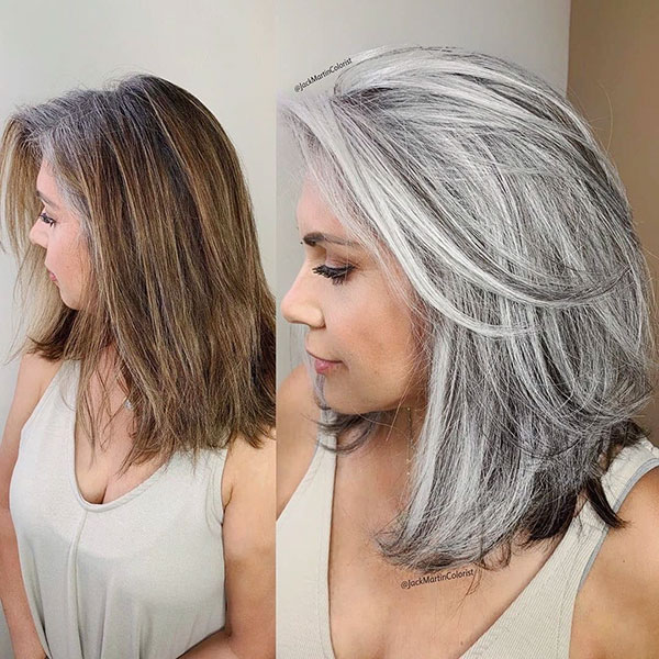 Grey Medium Hair