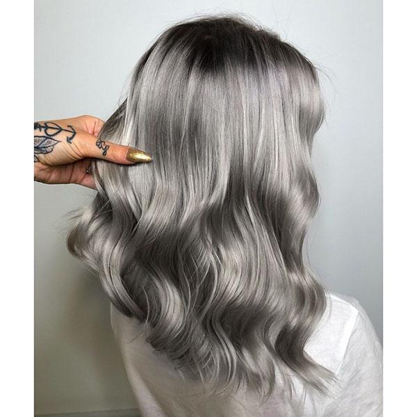Medium Silver Hair Ideas