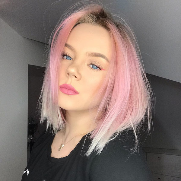 Medium Hairstyles For Pink Hair