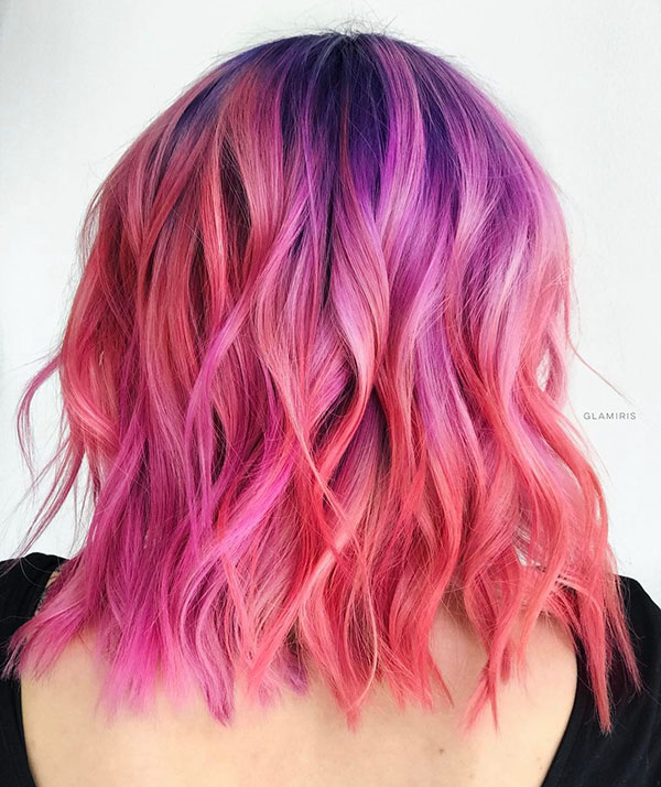 Pink Medium Hairstyles In 2020