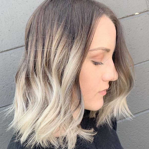 Blonde Medium Haircuts