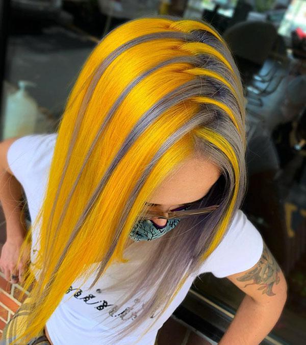 Medium Yellow Hair Color