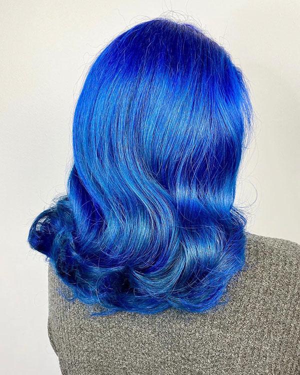 Medium Blue Hair Ideas