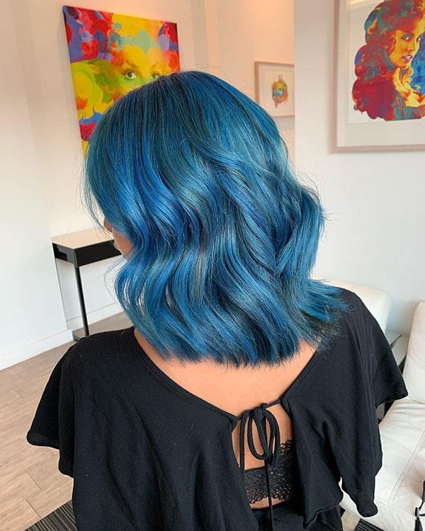 Medium Blue Hairstyles 2020