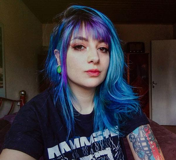 Medium Blue Hairstyles