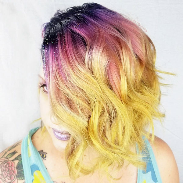Haircuts For Medium Pink Hair