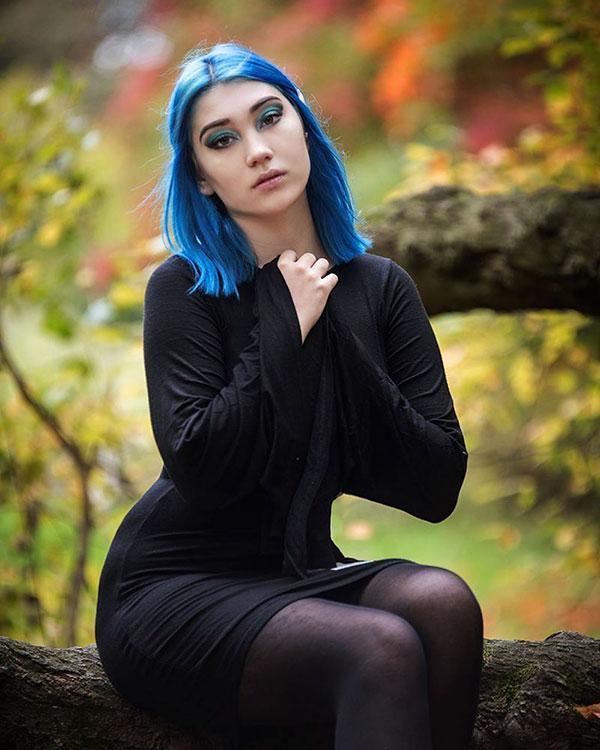 Medium Blue Hair