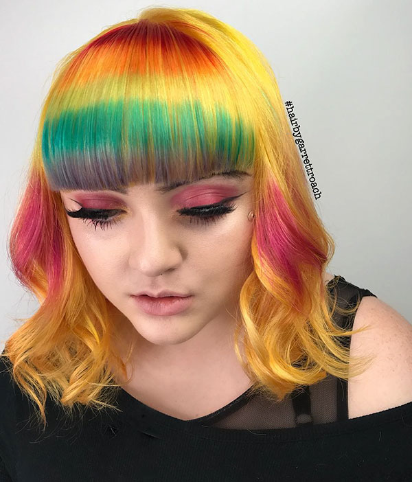 Pictures Of Medium Pink Hair