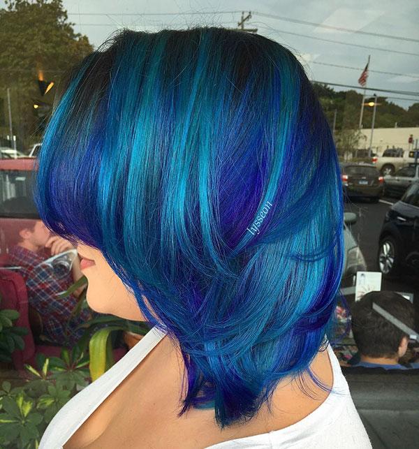 Medium Hairstyles For Blue Hair
