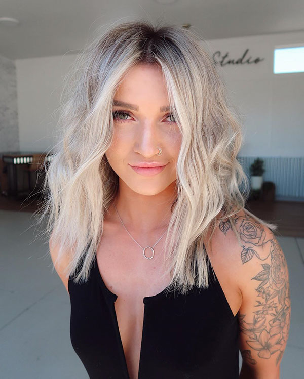 Medium Balayage Hairstyle Ideas