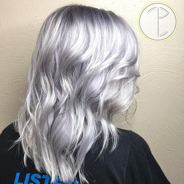 Medium Platinum Hair Color