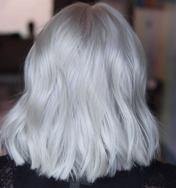 Medium Platinum Hairstyles