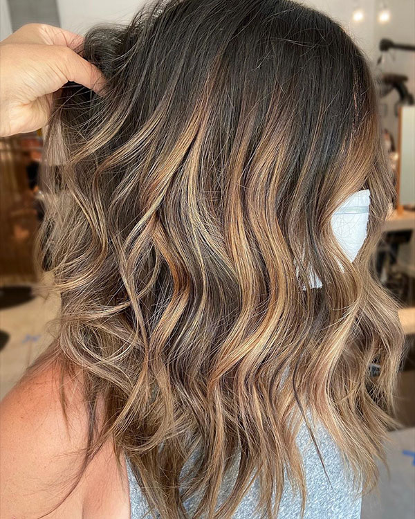 Medium Balayage Hair Styles