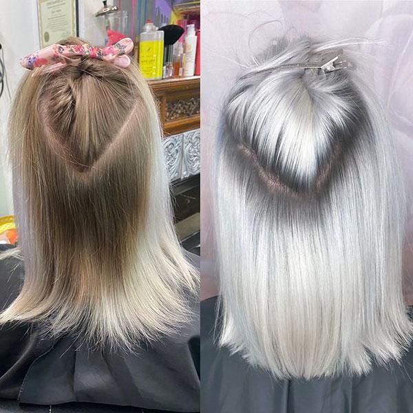 Medium Platinum Haircuts