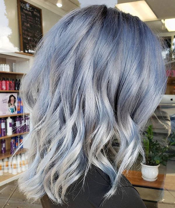 Medium Platinum Hairstyles For Women