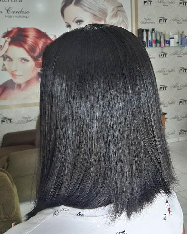 Medium Hair And Straight Styles