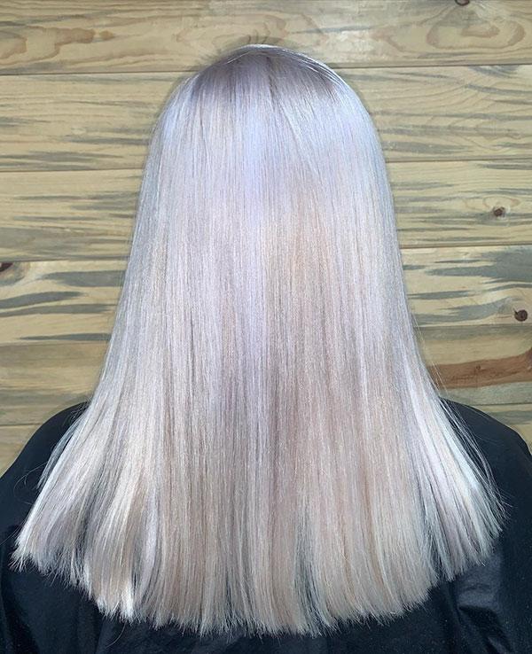 Medium Platinum Hair
