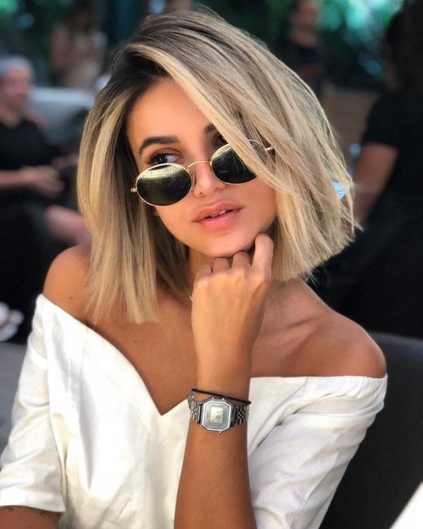 Cute Straight Hair And Medium Haircuts