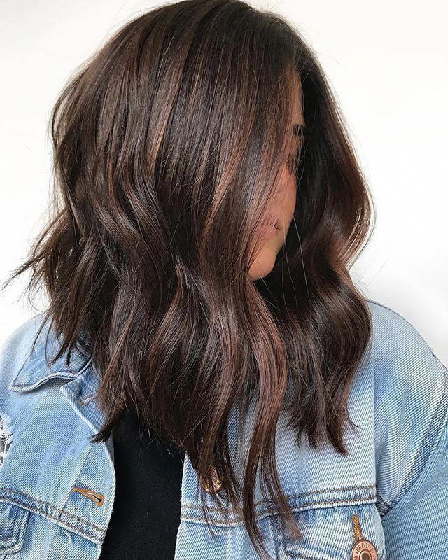 Medium Wavy Brown Hair Color